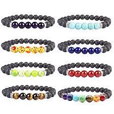 bracelet elastic images Diomate 8pcs lava rock stone essential oil diffuser bracelet jpg