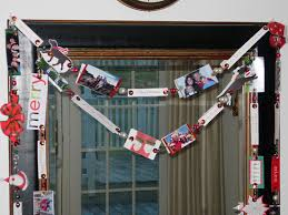 recycled christmas cards friends and family tree garland in my