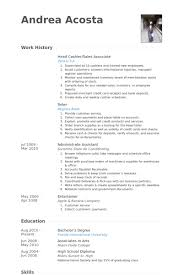 Sample Resume Of Sales Associate by Head Cashier Resume Samples Visualcv Resume Samples Database