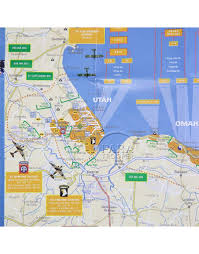 D Day Map Map D Day 6th June 1944 The Battle Of Normandy Paratrooper