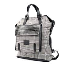 syd wool backpack black white christian louboutin touch