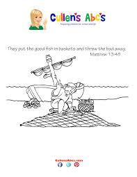 bible key point coloring fisherman u0027s net