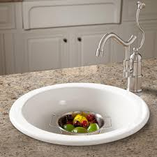 Risinger Fireclay DropIn  Undermount Prep Sink Kitchen - Kitchen prep sinks