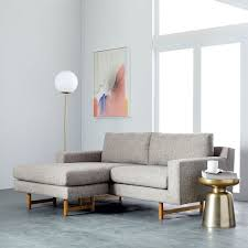 eddy reversible sectional feather gray deco weave west elm