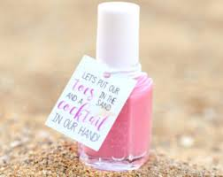 baby shower favors mani thanks tags nail polish favor tags