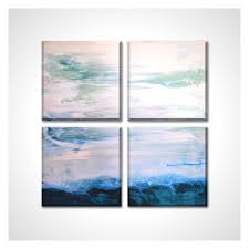 nautical painting seascape abstract ocean view painting square canvas giclee print