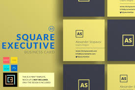 23 mini square business card psd templates ready to print