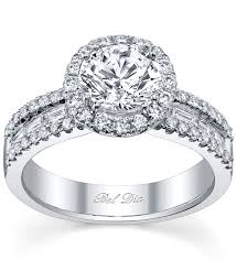 engagement rings with baguettes halo engagement ring with channel set baguettes