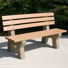 Plastic Wood Patio Furniture by Doty U0026 Sons Recycled Plastic Lumber Concrete Bench 6 Ft Hayneedle