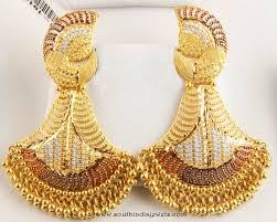 peacock design earrings in gold 22k gold earrings from senthil murugan jewellers gold peacock