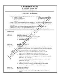quality lab technician resume lab tech resume free excel