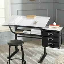 Drafting Table And Desk Safavieh Harvard Drafting Table And Chair Set Reviews Wayfair