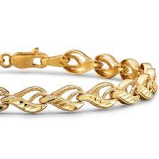 bracelet diamond yellow images 10k yellow gold diamond cut 4 55mm link bracelet jcpenney