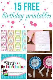 printable birthday card decorations printable birthday decorations 15 free birthday printables