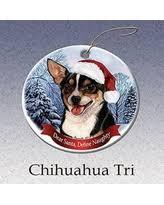 savings on chihuahua santa ornament