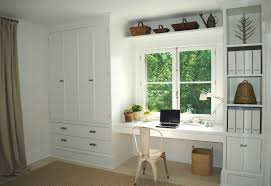 Under Window Storage by Bedroom Built In Around The Window Built Desk Storage Unit With