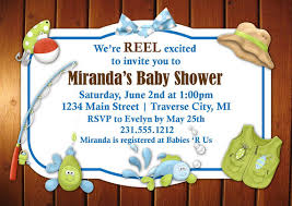 fishing themed baby shower fishing baby shower invitations marialonghi