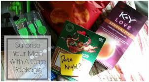 Romantic Ideas For Him At Home Surprise Him With A Date Night Care Package U2014 Kindasillymommy