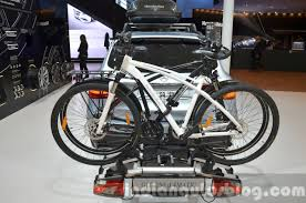 mercedes bicycle cycle rack for the mercedes glc at iaa 2015 indian autos blog