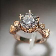 wedding rings luxury images Luxury design 18k rose gold moissanite 2ct simulate diamond jpg