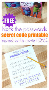 boov passwords free secret code printable no time for flash cards
