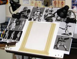 Drafting Table Set Star Wars Vader U0027s Fist Beginning Drawing