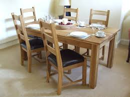 solid oak dining table with chairs with design ideas 12695 zenboa