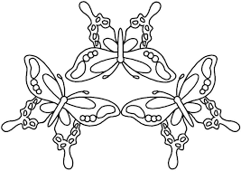 of butterflies coloring page free download