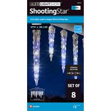 shooting star icicle lights gemmy blue and white shooting star icicle lights sears