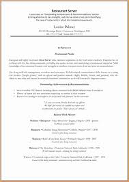 Resume Templates Restaurant 8 Good Restaurant Resume Invoice Template Download
