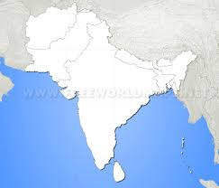Blank China Map by South Asia Maps