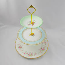 3 tiered cake stand three tier cake stand with mismatched plates vintage bone china