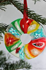 melted candy christmas ornament craft christmas ornament crafts