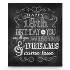 chalkboard plaque happy 18th birthday centrepieces table