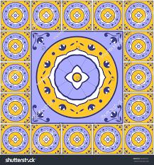 Tile Floor In Spanish by Floral Pattern Tiles Floor Vector Vintage Stock Vector 525797977