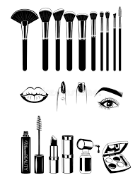 makeup artist tools makeup artist brushs and tools nails and eye vector