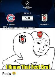 Chions League Meme - chions league result baye 5 0 90 nch bayern besiktas 90 c l know