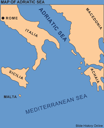 the sea map map of the adriatic sea bible history