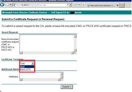 cannot see u201ccertificate template u201d while requesting certificate