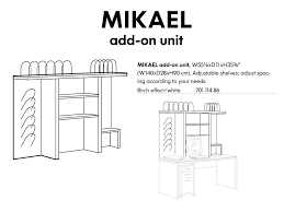 fs ikea mikael addon shelf like new desk not included 45