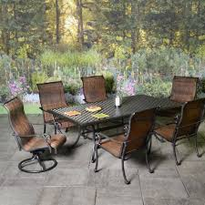 American Patio Furniture by Outdoor Patio Furniture Stonegate Cast Aluminum Sling Patio