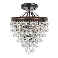 Small Crystal Pendant Lights by Crystorama Lighting Semi Flush Ceiling Lighting Goinglighting