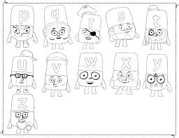 printable olaf coloring pages alphablocks glum
