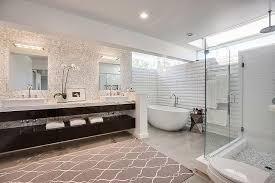 Contemporary Gray  White Bathroom Dark Stained Floating Vanity - Amazing mid century bathroom vanity house