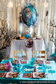 tips for hosting a frozen themed birthday party celebrating