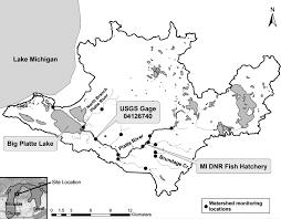 Michigan Dnr Lake Maps by Phosphorus Budget And Remediation Plan For Big Platte Lake