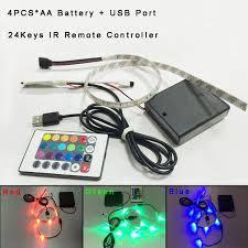 Led Strip Lights Battery Powered 1m 60leds Rgb Led Light Strip Battery Powered Rgb Remote