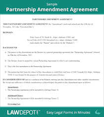 partnership amendment form free partnership amendment us