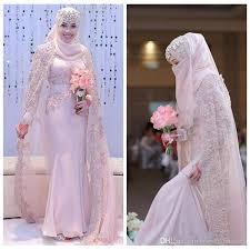 wedding dress muslimah 2017 beautiful muslim arabic mermaid chiffon wedding dresses high