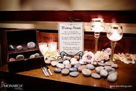 wedding wishing stones intimate rustic blush wedding at the lodge at torrey pines san